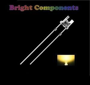 50-x-Warm-White-LED-3mm-Flat-Top-Ultra-Bright-13000mcd-UK-1st-CLASS-POST