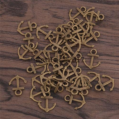 DIY Alloy Charm Pendants Silver Brass Necklace Bracelet Jewelry Marking Crafts