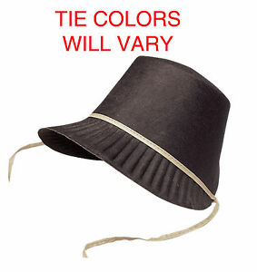 edcf02559501f Pilgrim Bonnet Pressed Felt Costume Shaker Quaker Hat Amish Bonnet ...