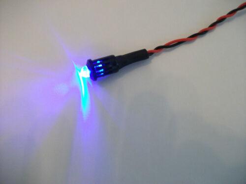 12v Con Bisel Negro 5 Mm Luminoso Intermitente Led Azul