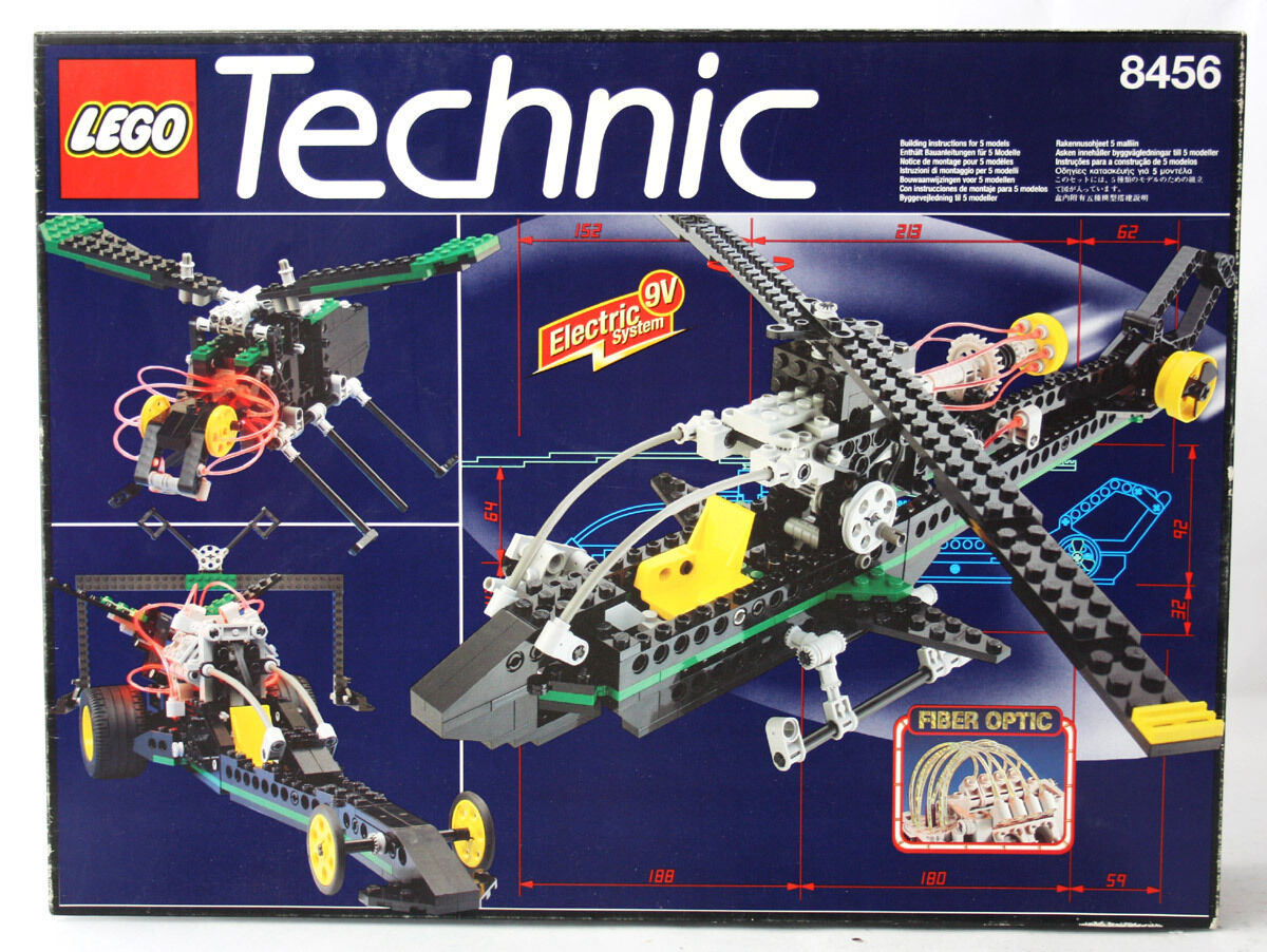 RARE VINTAGE 1996 LEGO TECHNIC 8456 FIBER OPTIC MULTI SET HELICOPTER NEW SEALED