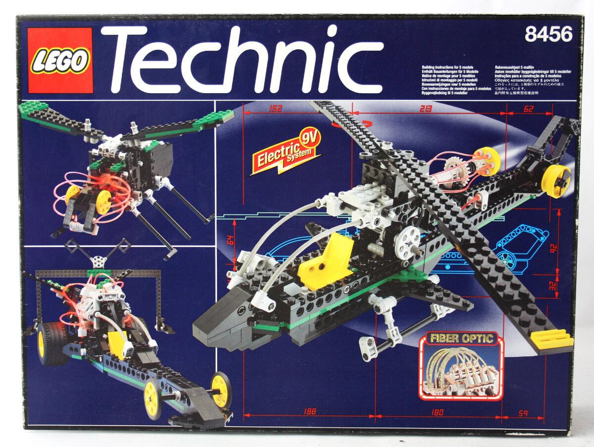 RARE årgång 1996 LEGO TEKNIK 856 FIBER OPTIC MULTI SET HELIKOPTER NEW SEALD