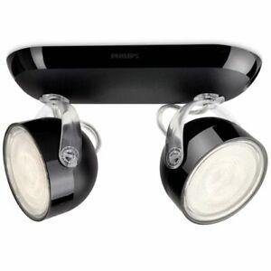 Lámpara LED Focos Techo Philips myLiving Luz W de Negro 2x 3 Dyna Iluminación Detalles de XZTOPwiuk