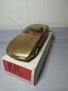1986 Corvette Promo 1/25 Gold Dealer Issue America's Only Sport Car Nice