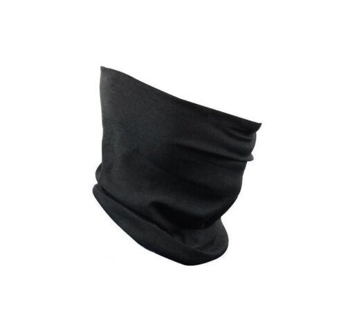 Schwarzes Multifunktionstuch Halstuch Schlauchtuch Kopftuch Motorrad Outdoor