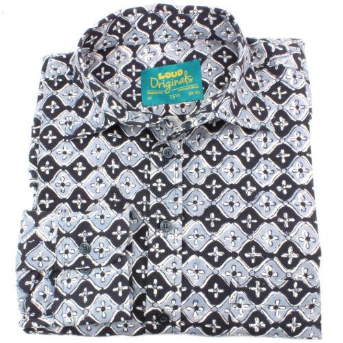 Regular Tiles Party Loud Psychedelic Black Mens Retro Block Shirt Print fx0HfqOwp