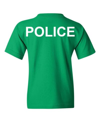 Police Law Enforcement Youth T-Shirt To Protect and to Serve Emergency Kids Tee