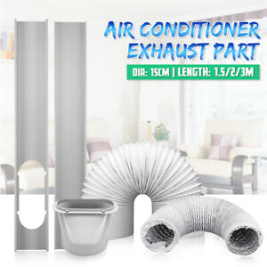 Air-Conditioner-Exhaust-Hose-Tube-6-039-039-Diameter-Window-Adaptor-Slide-Kit-Plate