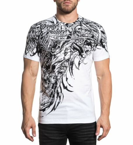 Xtreme Couture by Affliction Sorrow Biker Tattoos Skull MMA UFC T Shirt X1793