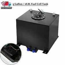 5 Gallon Coated Aluminum Fuel Cell Gas Tank & Level Sender Racing/drifting Black