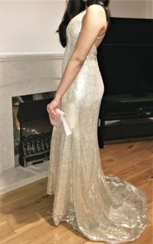 Sequin Taille 6 Petite Champagne De Robe wOgq8Y48