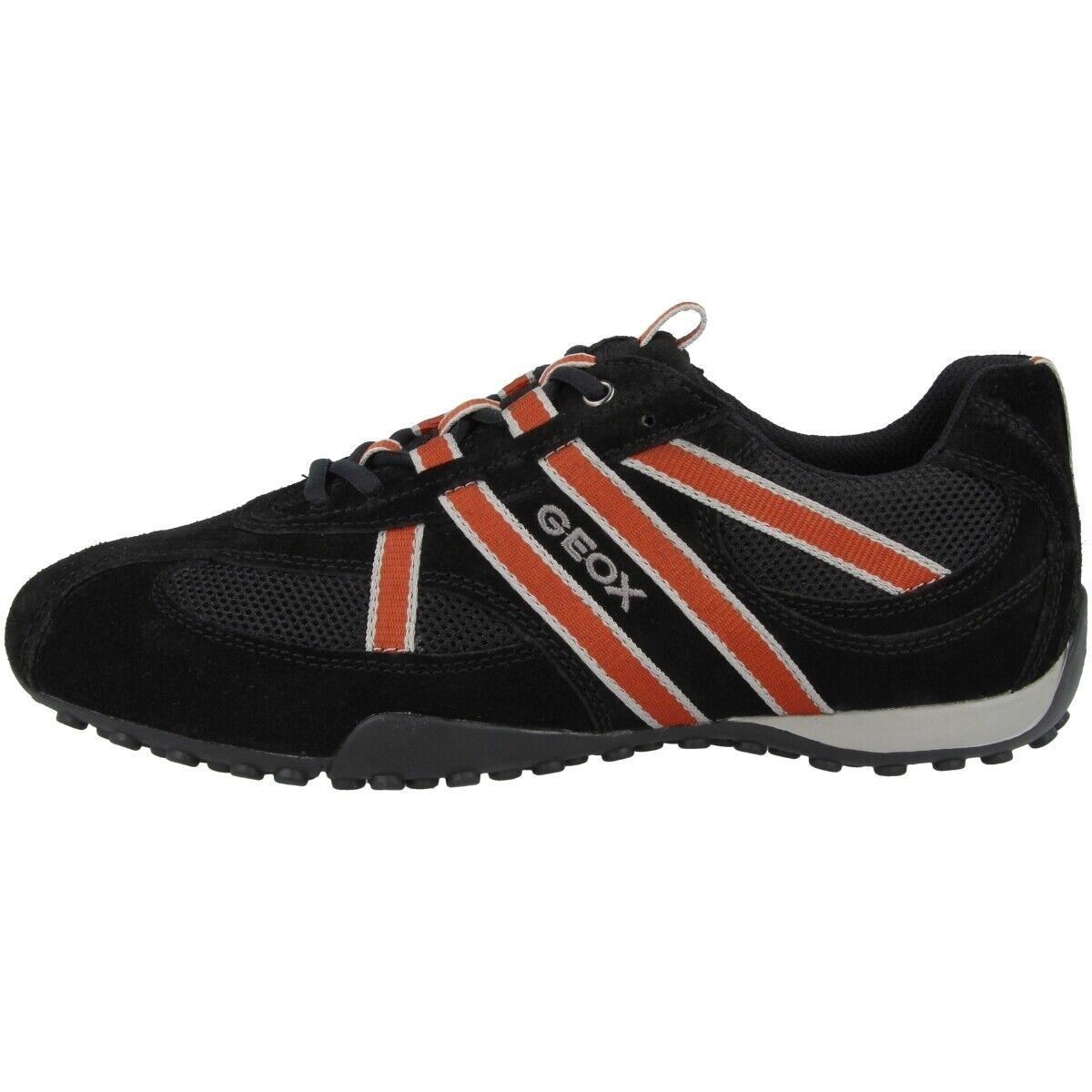 Geox u Snake s zapatos caballero casual zapatillas zapato bajo negro u2207sa2214c0038