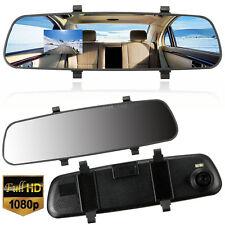 "Car HD 1080P 2.7"" Video Recorder G-sensor Dash Cam Rearview Mirror Camera DVR UL"