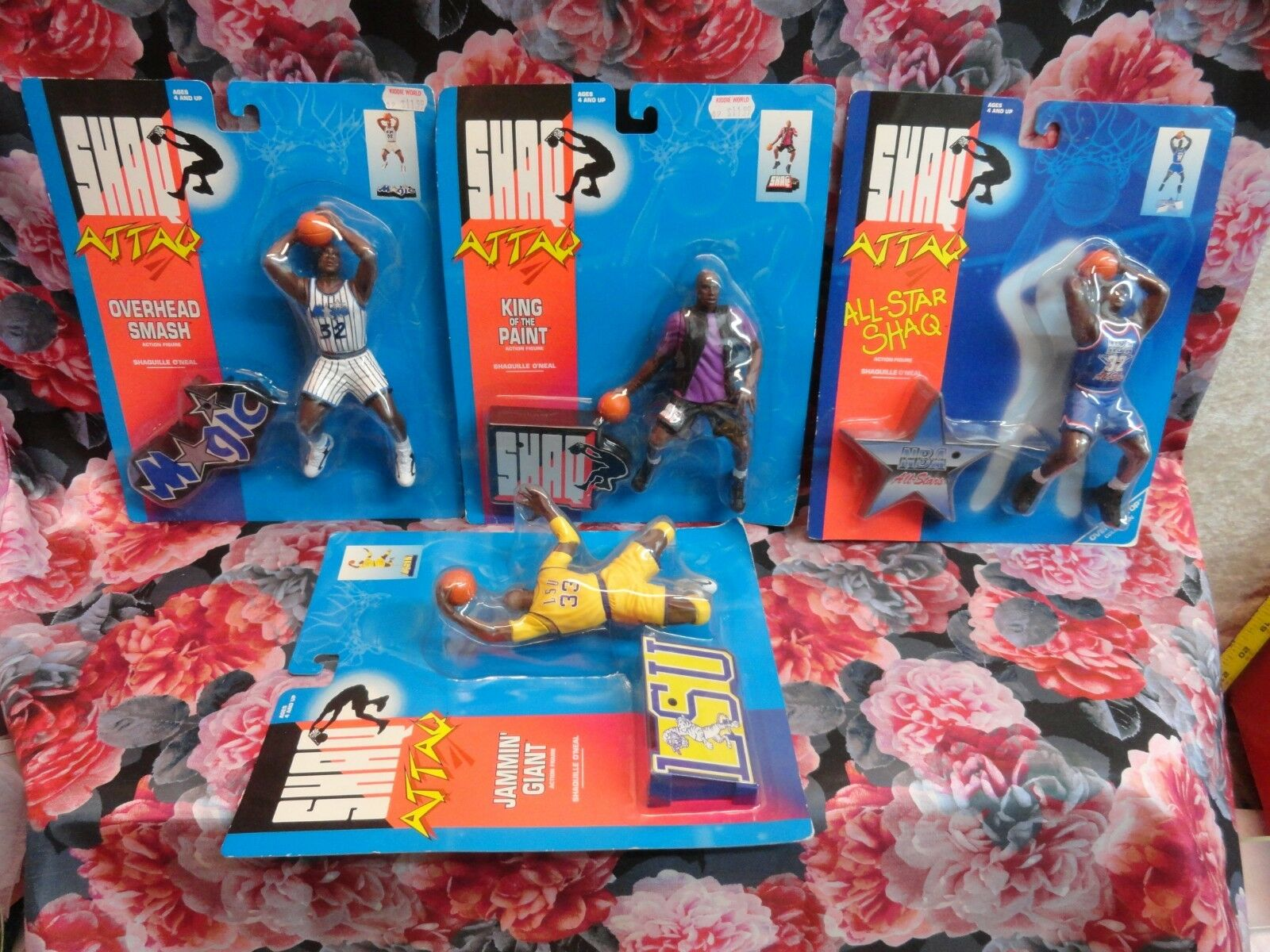 Shaq Attaq  KENNER FIGURINES Lot of 5 1993 NEW NEVER OPENED