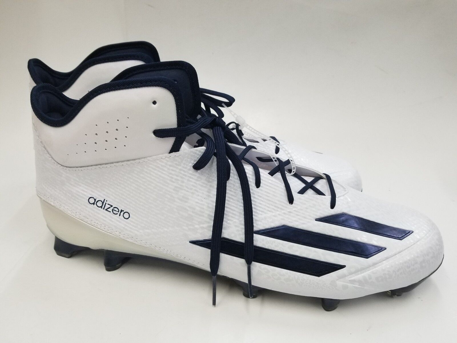 902b9bd0f9b Adidas Adizero 5Star Mid Cleat And Navy bluee Size 18 White 6.0 npdcgs5124- Men