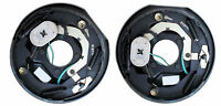 2 -complete Trailer Electric Brake Backing Plate 3500 Axle 10 X 2.25 Shoe Axel