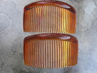 Shell Brown Rounded Back Side Comb 29 Tooth 4 1/2 Comb Made In Usa