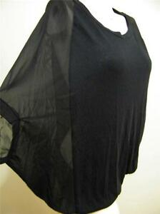 SUPRE-BLACK-OVER-SIZED-CHIFFON-SIDES-TUNIC-SIZE-XS-NEW-WITH-TAG-RRP-25-00
