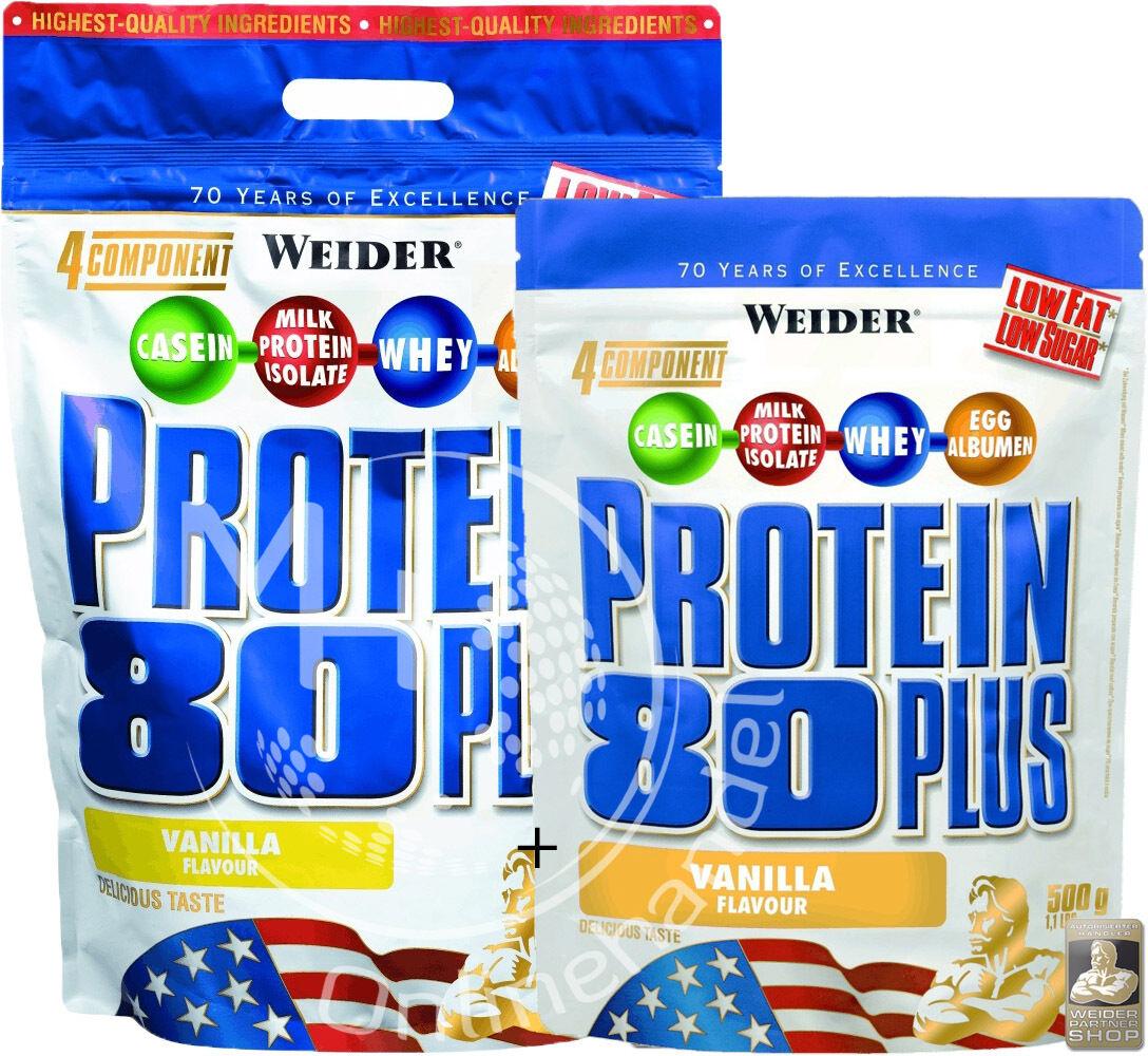 Weider Protein 80  Plus 2Kg +500g Beutel ( /Kg)  80 Eiweiß Shake 311d73