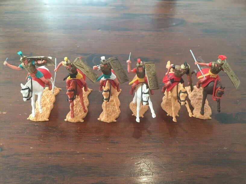 Timpo Mounted Romans - Complete Set - Ancient Rome - 1960 70's