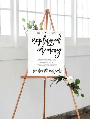 A3 Unplugged cérémonie Signe pour les occasions spéciales-éteindre les Téléphones//Appareils Photo