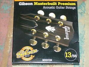 Gibson Masterbuilt Premium Medium Guage Cordes Guitare 13/56-afficher Le Titre D'origine Ventes De L'Assurance Qualité