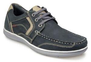 Pod-Hombre-Zapato-Informal-Cordones-HAWK-2-Azul-Marino-en-Talla-UK6-to-Uk15