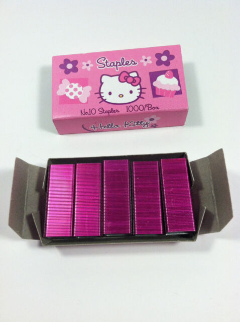 Size No 10 Pink Color Hello Kitty Staples by Sanrio