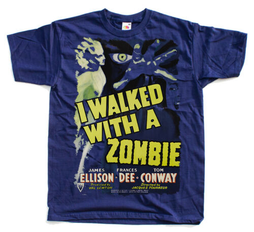 poster 1943 BLACK,NAVY,WHITE ALL SIZES S-5XL T-Shirt I Walked with a Zombie