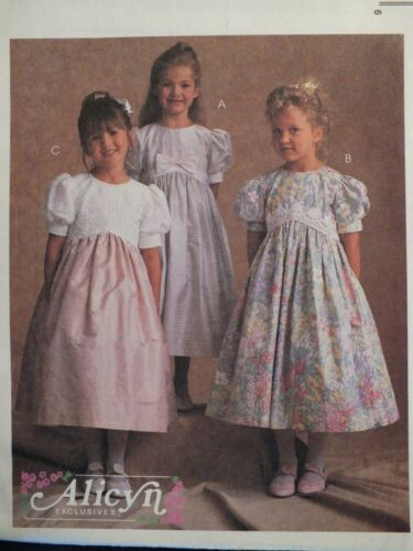 OOP McCALLS 8578 Girls Shaped Empire Waist Dresses PATTERN 2-3-4-5-6-7-8 UC