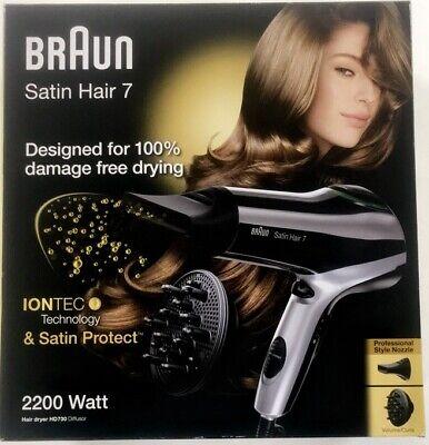 BRAUN SATIN HAIR 7 HD730 Sèche Cheveux Technology Iontec Et Satin Protect | eBay