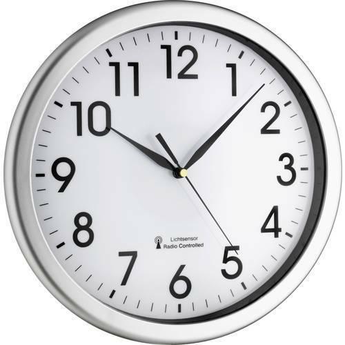 Tfa 60.3519.02 radiocontrollato orologio da parete 30.8 cm x 4.3 argento