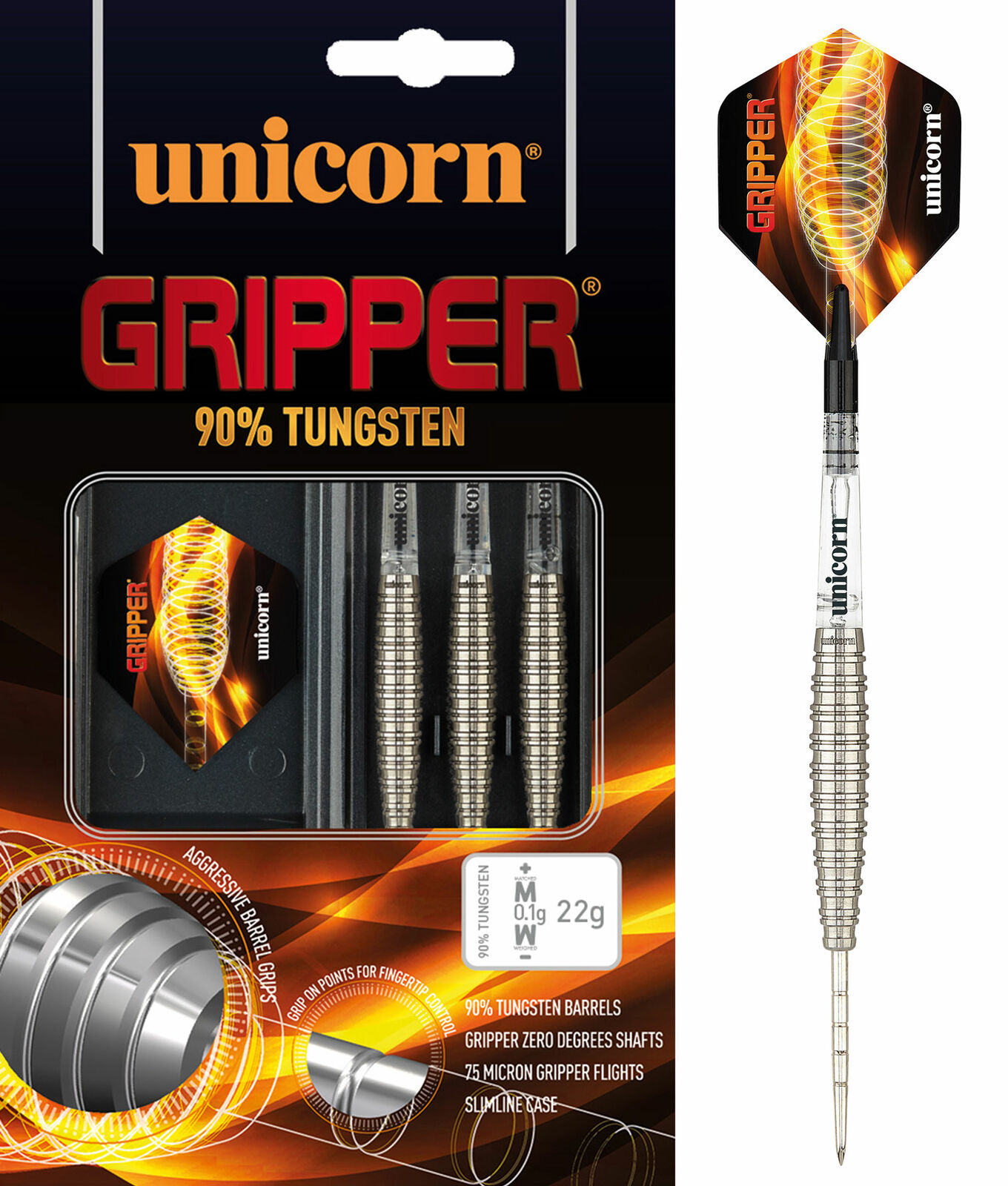 Unicorn Gripper Steel Darts 1 Satz 24 Gr.