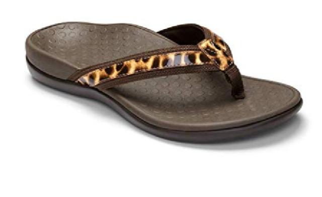 45c27b6ff029 Vionic Women s 44TIDEII Toe Post Sandal BROWN LEO Choose Size Free Shipping  NIB