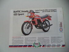 advertising Pubblicità 1983 MOTO FANTIC STRADA 125 SPORT