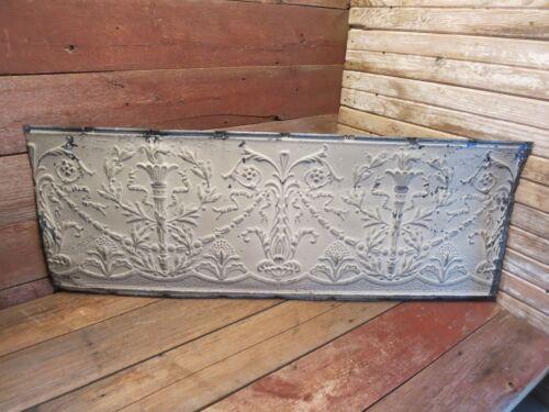 "Vintage Antique Metal Tin Ceiling Tile 48/""X18/"" Reclaim Salvage Tile Victorian!"