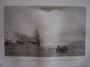 Grande Gravure Prise Vaisseau Hollandais Galères De France Ostende Oostende 1762