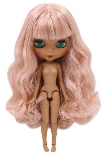 """12/"""" Neo Blythe Doll from Factory DIY Dark Skin Matte Face Living Coral Hair Toy"""