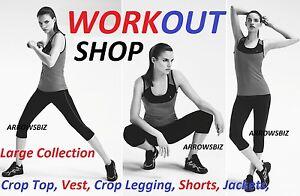 Allenamento-In-Palestra-Yoga-Sport-Ciclismo-Maglietta-Corta-T-Shirt-Shorts
