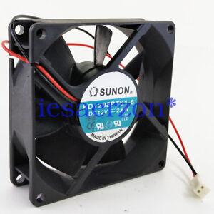 For-SUNON-KD1208PTS1-6-FAN-80X80X25mm-12VDC-2-6W