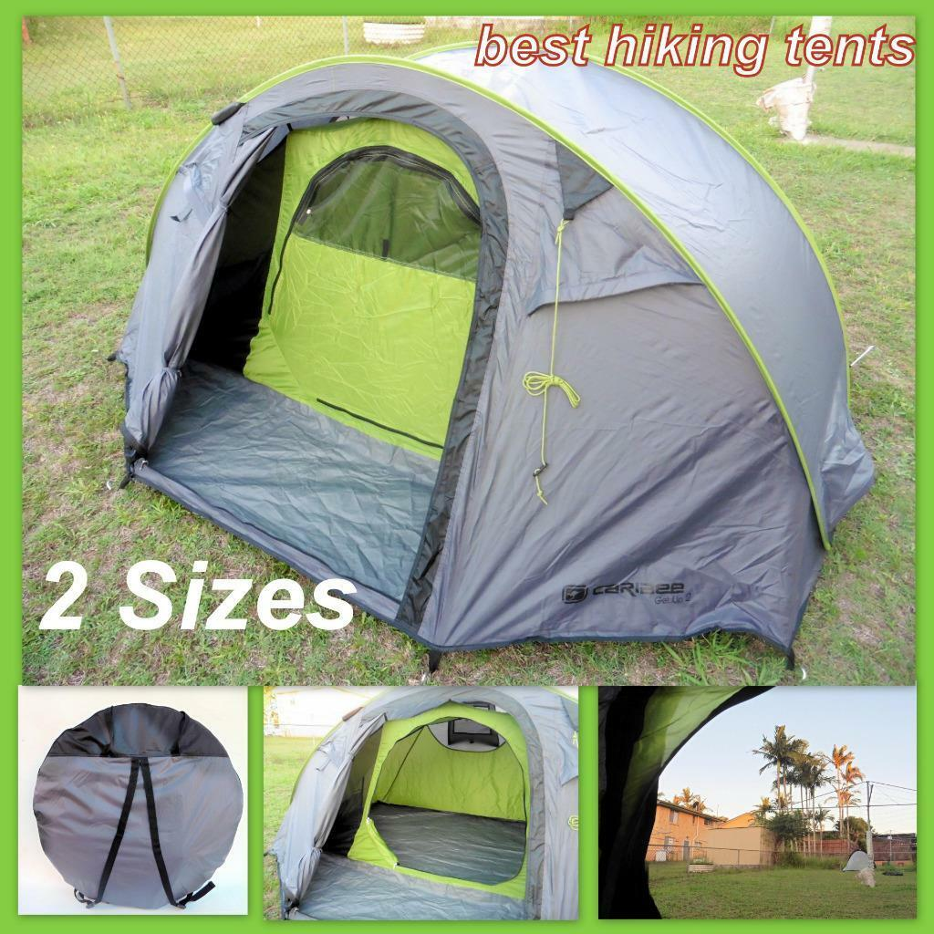Caribee Get Up Tent Auto Pop Up Speedy Instant Open Camping Hiking 2-3 Mens Size