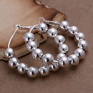 ASAMO-Damen-Ohrringe-mit-Kugeln-925-Sterling-Silber-plattiert-Ohrschmuck-O1188