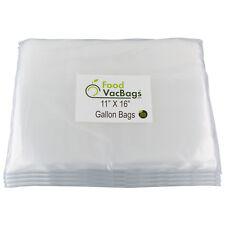 "200 11""X16"" FoodVacBags 4 mil GALLON Vacuum Sealer Storage Bags - Food Saver!"