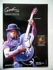PUBLICITE-ADVERTISING :  Guitare GODIN 5th Avenue Kingpin  10/2009 Eric McFaden