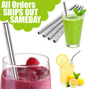 Metal Straws Stainless Steel Drinking Straws Smoothie Reusable For Yeti Rtic