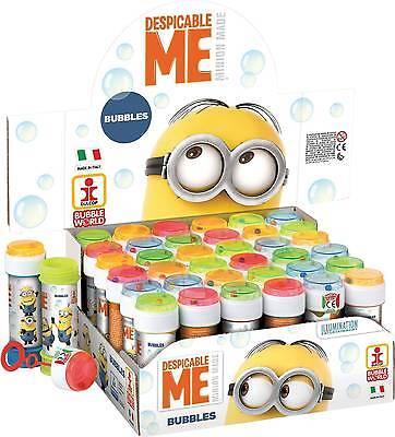 DESPICABLE ME - BUBBLES (Choose Amount) Kids Party Bag Filler Loot Toys Minions