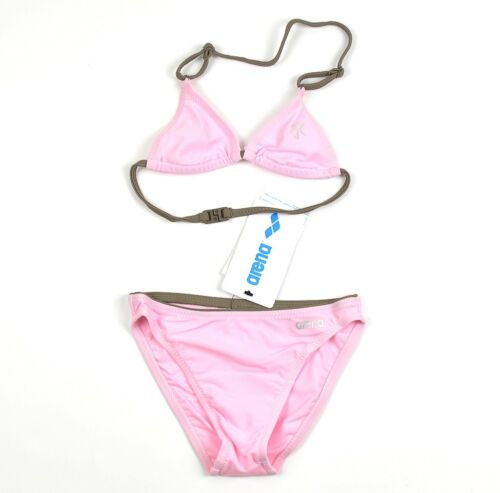 Arena Mädchen Bikini Set Letist Girls Neckholder Swim Girls Kinder pink//rosa