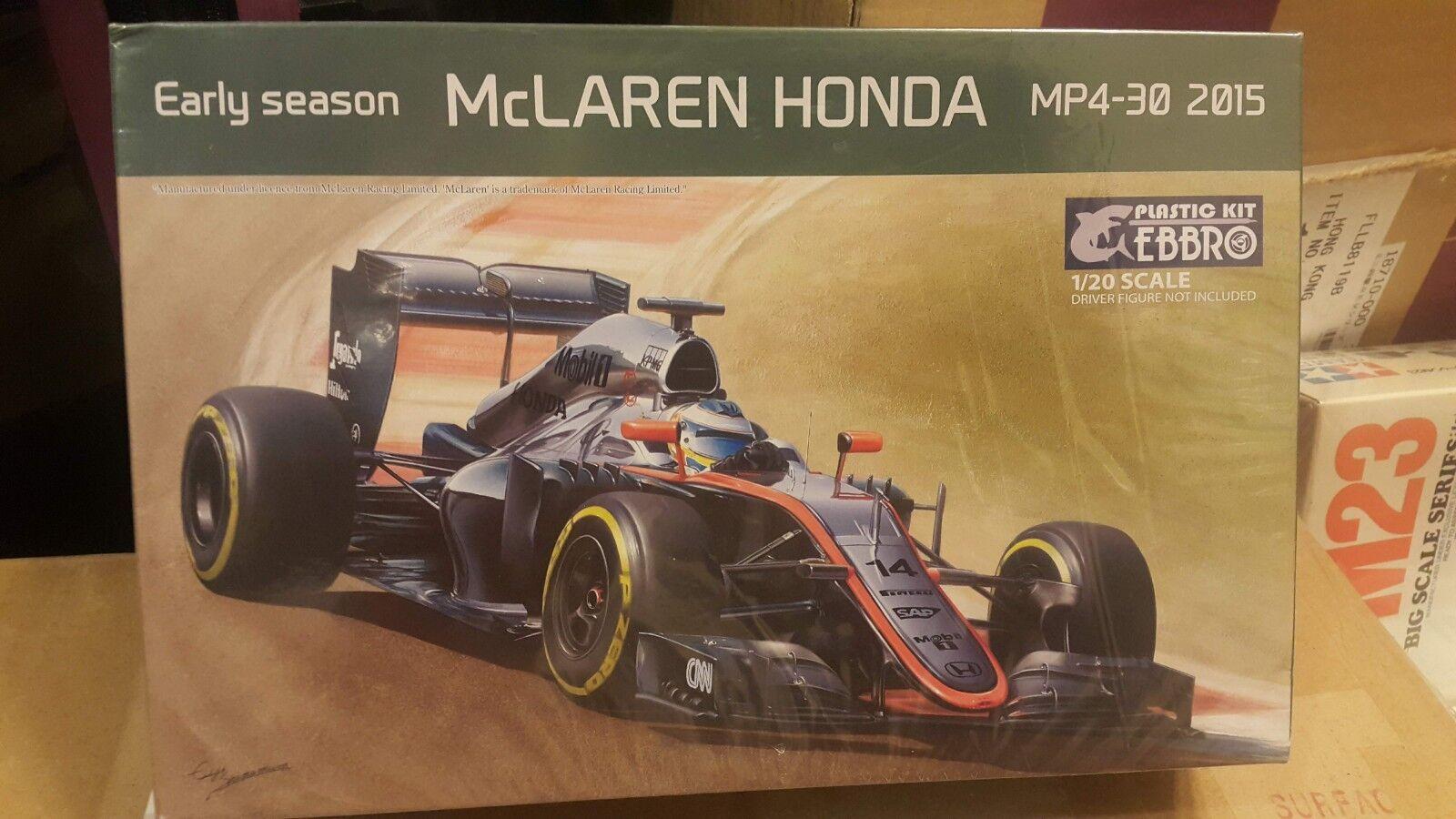 Ebbro 1 20 Mclaren Honda MP4-30 2015 Early Season F1 Model Car Kit