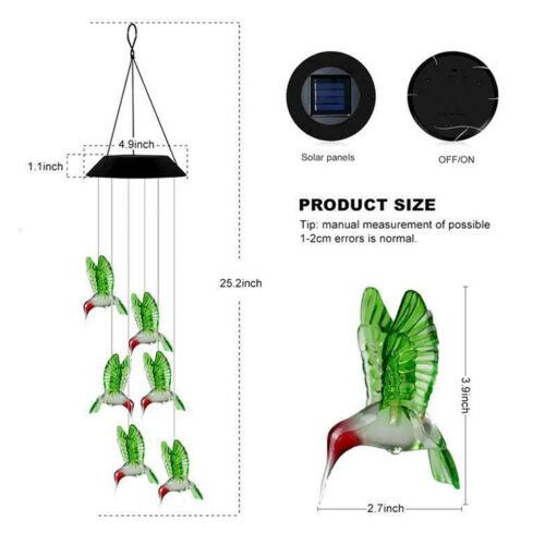 Carillon solaire éolien à action solaire à changement de couleur LED Light Yard