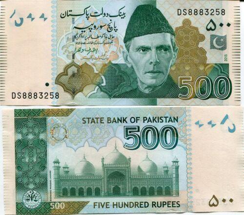 PAKISTAN 500 RUPEES 2015 P 49 NEW SIGN UNC